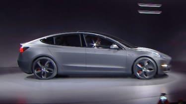 Tesla Model 3 presentation side