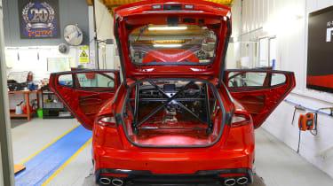 Kia Stinger GT420 - Kia Stinger in workshop rear