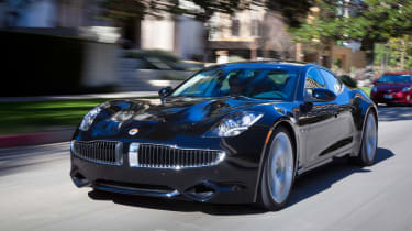 The Karma is Fisker's first car and is going to be sold in the UK.