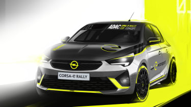 Vauxhall Corsa-e rally - render