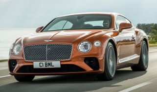 Bentley Continental GT V8 - coupe front tracking