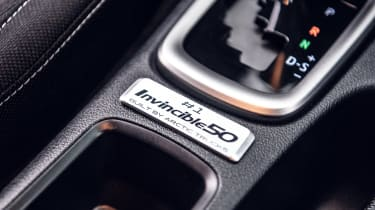 Toyota Hilux Invincible 50 Limited Edition - interior badge