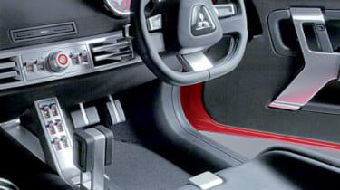 Mitsubishi Lancer Evo X steering wheel
