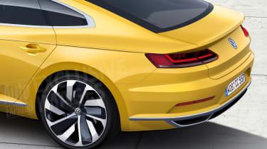VW Passat CC watermarked render rear detail