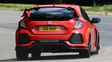 UK Honda Civic Type R 2017 - corner rear