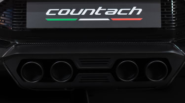 Lamborghini Countach LPI 800-4 exhaust