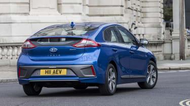 Hyundai IONIQ EV 2016 UK - rear cornering 2