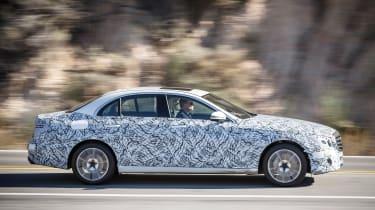 Mercedes E-Class development car side