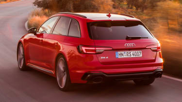 Audi RS4 2018 review - red rear