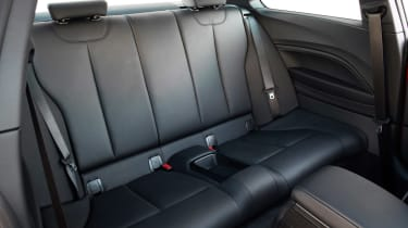 BMW M235i 2014 rear seats