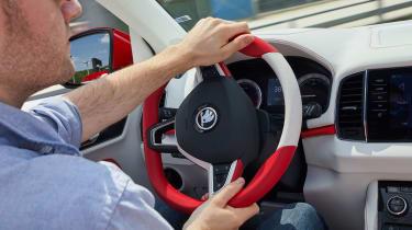 Skoda Sunroq - steering wheel
