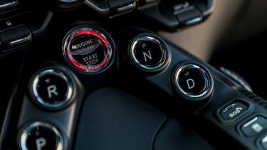 Aston Martin Vantage - start/stop button
