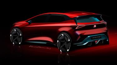 SEAT el-Born concept - rear sketch