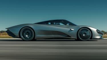 McLaren Speedtail - runway testing - side tracking