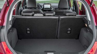 Ford Fiesta Titanium 2017 boot seats up