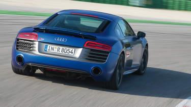 Audi R8 V10 Plus rear action