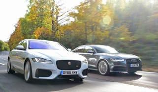 Jaguar XF vs Audi A6 road test
