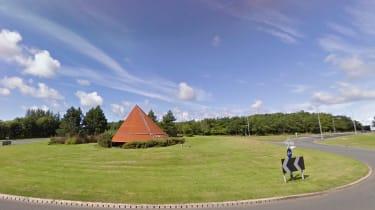 Lillyhall roundabout, Cumbria