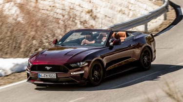 Ford Mustang EcoBoost Convertible - front above