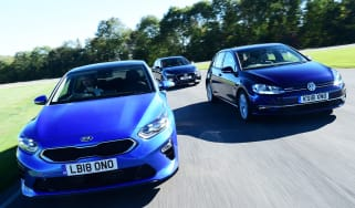 kia ceed vs vw golf vs hyundai i30 group test