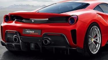 Ferrari Pista leak - rear