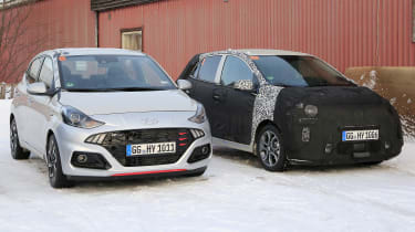 2020 Kia Picanto - spies - front static with Hyundai i10