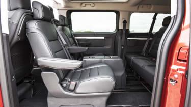 Vauxhall Vivaro Life 2019 back seats turned