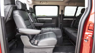 Vauxhall Vivaro Life 2019 back seats turned