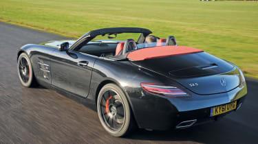 Mercedes SLS AMG Roadster rear tracking