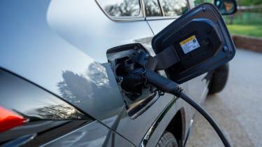 Toyota RAV4 plug-in hybrid - plugged in