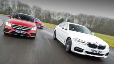 BMW 5 Series vs Mercedes E-Class vs Jaguar XF - group 2