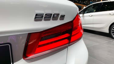 BMW 530e - Geneva rear badge