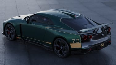 Nissan GT-R50 by Italdesign - green rear 3/4 static