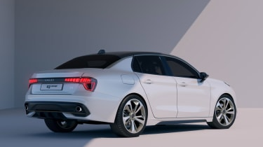 lynk and Co 03 concept saloon car rear