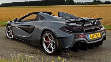 McLaren 600LT Spider - rear 3/4 static