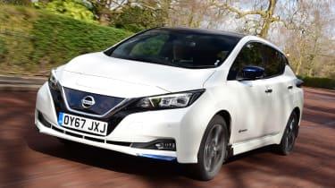 Nissan Leaf driving