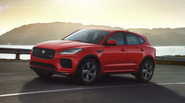 Jaguar E-Pace Chequered Flag Edition - front action