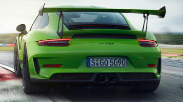 New Porsche 911 GT3 RS rear green