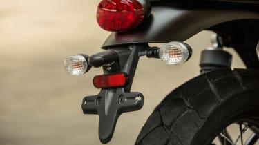 Triumph Street Scrambler review - rear lights