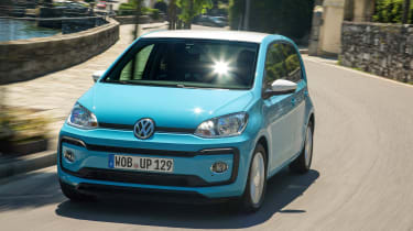 Volkswagen up! 2016 - front cornering blue