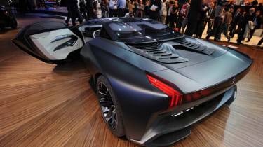Peugeot Onyx supercar rear three-quarters