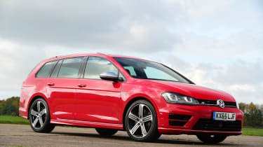 Volkswagen Golf R Estate front quarter