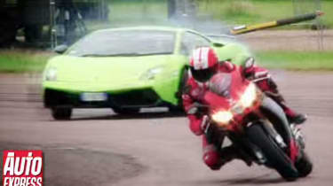 Lamborghini LP570-4 Superleggera vs Aprilia RSV4 Superbike