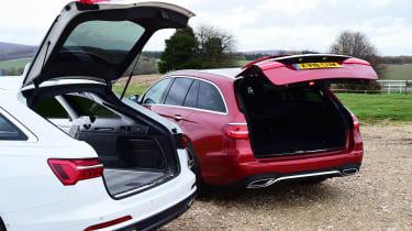 Audi A6 Avant vs Mercedes E-Class Estate - boots