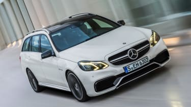 Mercedes E63 AMG Estate front tracking
