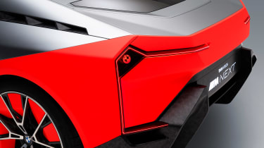 BMW Vision M NEXT concept - studio rear detail