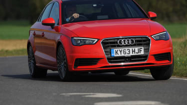 Audi A3 Saloon front cornering