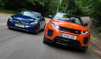 Range Rover Evoque Convertible vs Mercedes C-Class Cabriolet - header