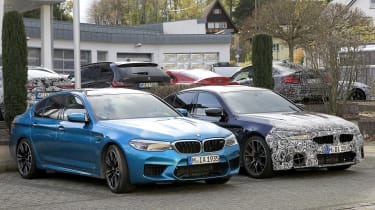 BMW M5 facelift - spyshot 11
