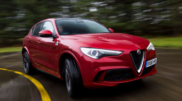 Alfa Romeo Stelvio Quadrifoglio corner